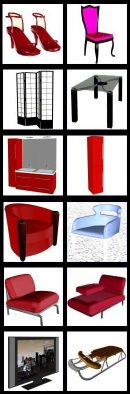 3D furniture and accessories for 3DXPlorer